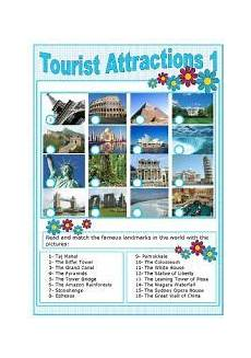 places to visit worksheets 16035 worksheets tourist attractions 1 educacion turistico lugares turisticos
