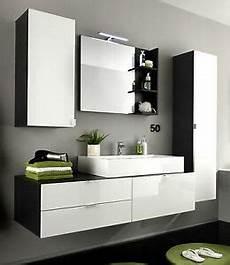 Badezimmer Weiß Grau - bad m 246 bel badezimmer set 4tlg weiss hochglanz grau