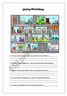 giving directions worksheets islcollective 11706 giving directions esl worksheet by malvarosa