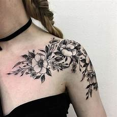 shoulder flower tattoos designs ideas and meaning