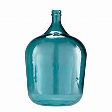 dame jeanne en verre vase dame jeanne en verre teint 233 bleu h 56cm boheme maisons du monde