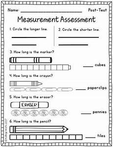 measurements worksheets for grade 1 1758 nonstandard measurement assessment by kathryn watts tpt