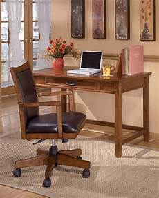 furniture desks home office ashley furniture cross island brown oak small home office