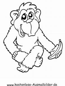 Malvorlagen Tiere Affen Ausmalbild Affe Mit Banane Batavusprorace