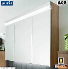 puris ace spiegelschrank 100 cm mit led beleuchtung