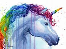Malvorlage Regenbogen Einhorn Rainbow Unicorn Print Watercolor Print Unicorn Print