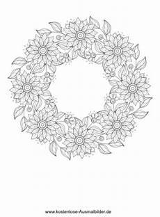Ausmalbilder Erwachsene Blumen Pdf Blumenkranz Erwachsene Ausmalen Malvorlagen Vorlagen