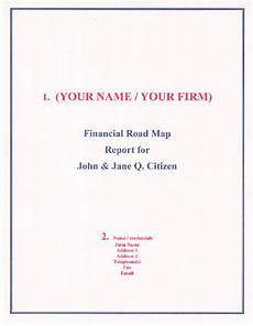 your financial road map