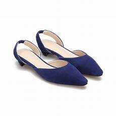 Flat Shoes R 30 pointed toe suede flat shoes in blue us 31 95 yoins