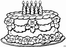 Kinder Malvorlagen Torte Torte Mit Vielen Kerzen Ausmalbild Malvorlage Gemischt