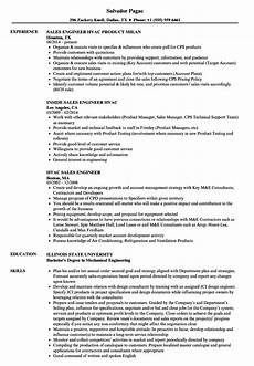 hvac sales engineer resume sles velvet