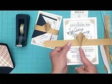 how to make a diy artdeco wedding invitation and amazing