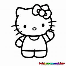 Hellokitty Hitam Putih Cliparts Co