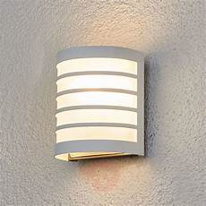 calin white outdoor wall light with a striped