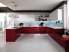 using high gloss tiles for kitchen is good interior
