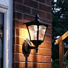 solar power outdoor led security wall lantern light