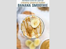 creamy peanut butter banana smoothie_image