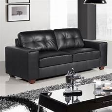 Strada Black Leather Sofa Suite Collection