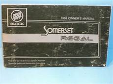 free online auto service manuals 1985 buick regal windshield wipe control 85 1985 buick somerset regal owners manual ebay