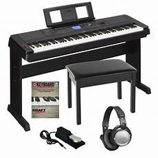 yamaha dgx 660 portable grand digital piano black bonus