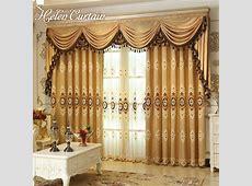 Helen Curtain Set Luxury European Style Embroidered