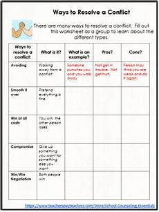 quot conflict resolution quot lesson for teens in middle high school tpt
