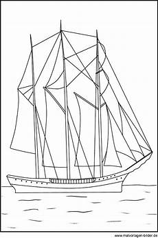 segelschiff segelboot als ausmalbild zum ausdrucken