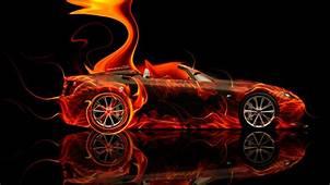 Lexus LFA Roadster Side Super Fire Abstract Car 2014  El Tony