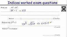 gcse algebra questions worksheets 8549 indices gcse maths revision higher level worked questions inc fractional and negative