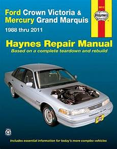 automotive repair manual 1988 mercury grand marquis engine control crown victoria grand marquis repair manual 1988 2011 haynes 36012