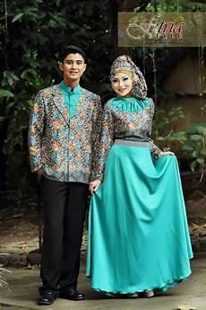 Baju Muslim Cauple Batik Silk busana muslim koleksi terbaru