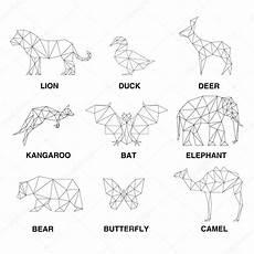 Malvorlagen Geometrische Tiere Geometrische Tiersilhouetten Reihe Polygonen