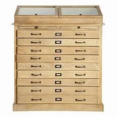 semainier maison du monde cabinet semainier multi tiroirs naturaliste craft store
