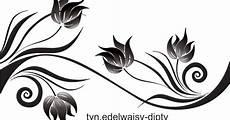 Swirly Ornamen Bunga Vector 1