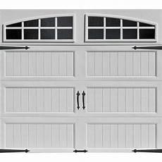 9 7 Garage Doors by Ideal Door 174 Designer White Insulated Garage Door With