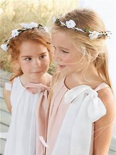 Couronne De Fleurs Fille Blanc Petites Filles