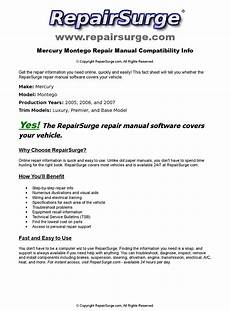 old car owners manuals 2006 mercury montego navigation system mercury montego online repair manual for 2005 2006 and 2007 by repairsurge issuu