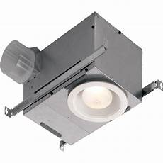 nutone 70 cfm ceiling bathroom exhaust fan with recessed light 744nt the home depot