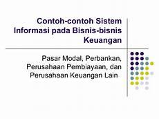 contoh contoh sistem informasi pada bisnis bisnis