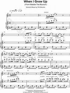 quot when i grow up quot from matilda the musical sheet music in c major transposable download
