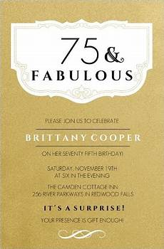the best 75th birthday invitations and invitation