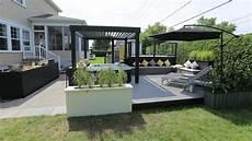 Terrasse Beton Teinté Am 233 Nagement Ext 233 Rieur Autour D Un Spa Lounge Salon