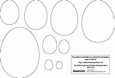 easter egg card templates printable early play templates simple easter egg templates