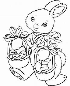 easter bunny coloring pages getcoloringpages