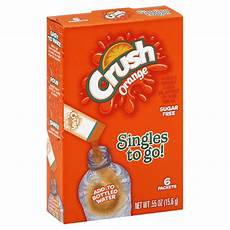 crush orange singles to go drink mix 0 55 oz shop your