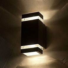 rectangular shaped focus led exterior wall light lights co uk