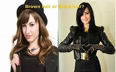Brown Hair Or Black Hair brown hair vs black hair demi lovato which do you like