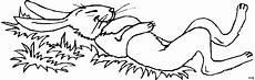 Ausmalbild Hase Comic Hase Schlaeft Im Gras Ausmalbild Malvorlage Comics