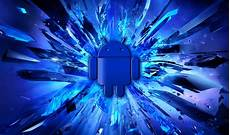 Android Home Screen Blue Wallpaper Hd