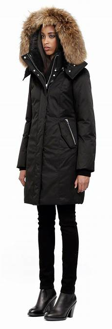 mackage kerry black fitted winter parka for
